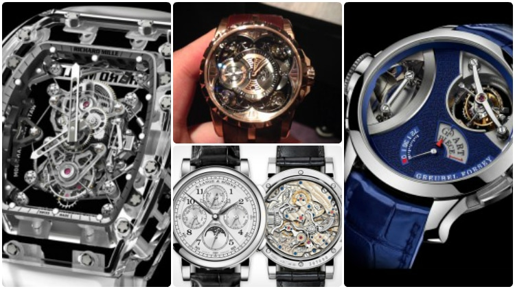 tourbillon discs crest expensive with have bi and spendit pointers a pearl most metallic gold white display sapphire casing has that priced montblanc watches list juk cylindrique on dark