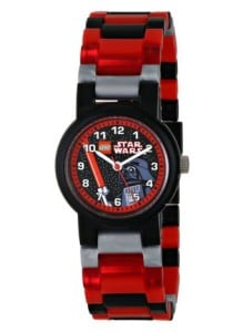 LEGO Kids' 8020301 Star Wars Darth Vader Plastic Watch with Link Bracelet