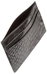 Trafalgar Men's Alligator Slim Card Case