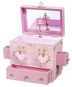 Ballerina Treasure Music Box: