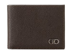 Salvatore Ferragamo Men's Ten-Forty One Bifold Wallet Chocolate Wallet