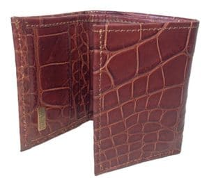 Sultan Genuine Alligator Men's Trifold Wallet