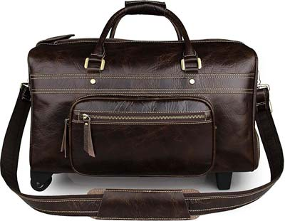 BAIGIO-18-inch-Carry-on-Luggage-Leather-Travel-Weekend-Bag-with-Wheels-Rolling-Duffel