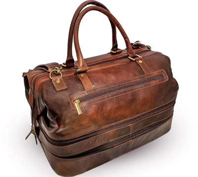 Leather-Duffle-Adventure-Bag-Weekender-Travel-Luggage-with-Shoe-Compartment